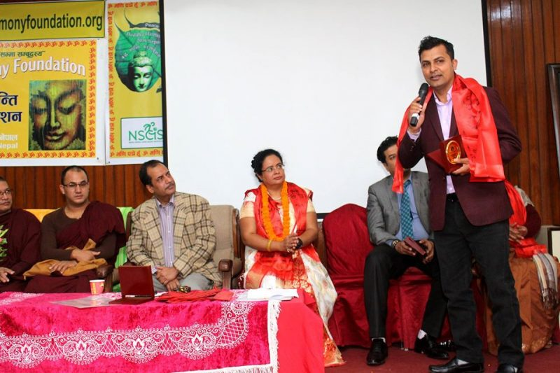 Rewati offed as a life membrer of the buddha harmony foundation in Nepal